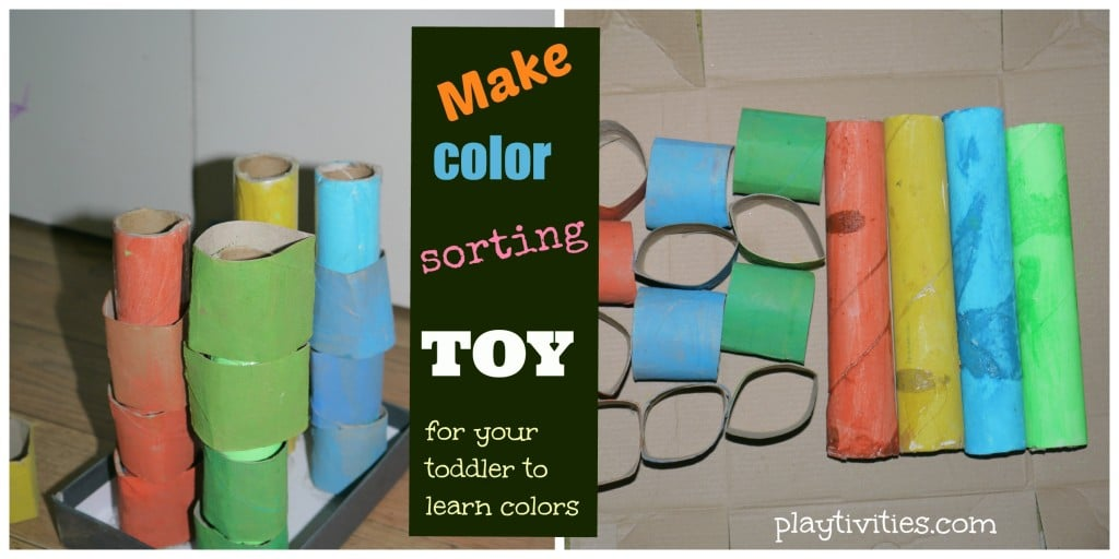 Teaching Colors for Toddlers with homemade toy
