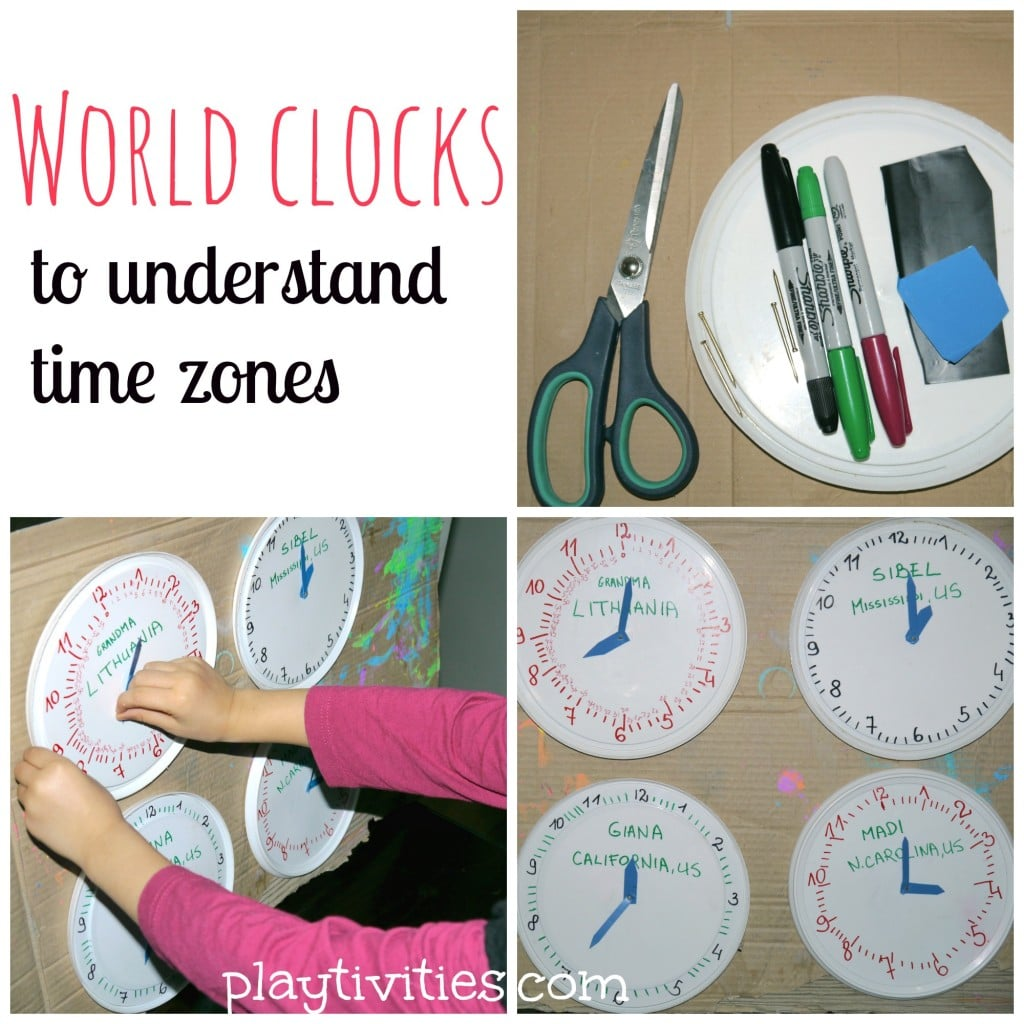 Teaching time zones in simple way