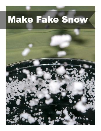 Make Fake Snow from Styrofoam for Kids to Go Crazy.