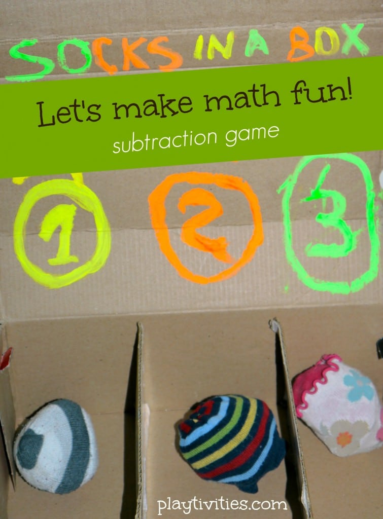 Fun Math Activity – Socks in the Box