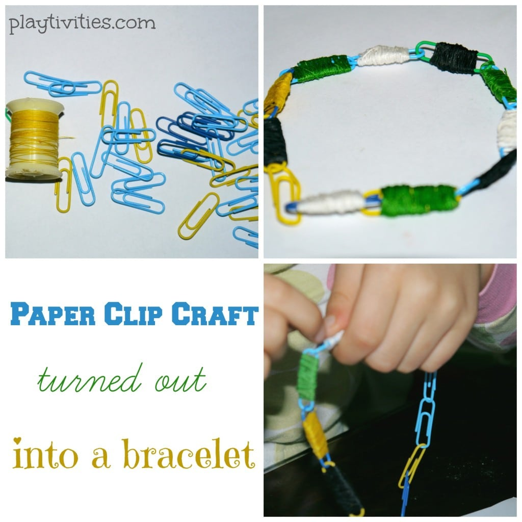 Paper Clip Craft turns out into a bracelet