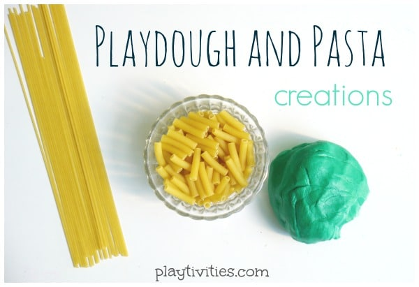 Playdough Creations With Pasta