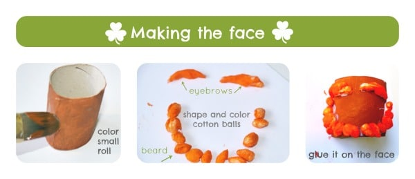 st patricks day craft face tutorial