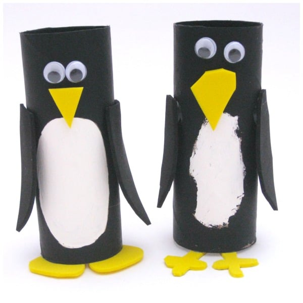 Toilet paper roll craft ideas penguin