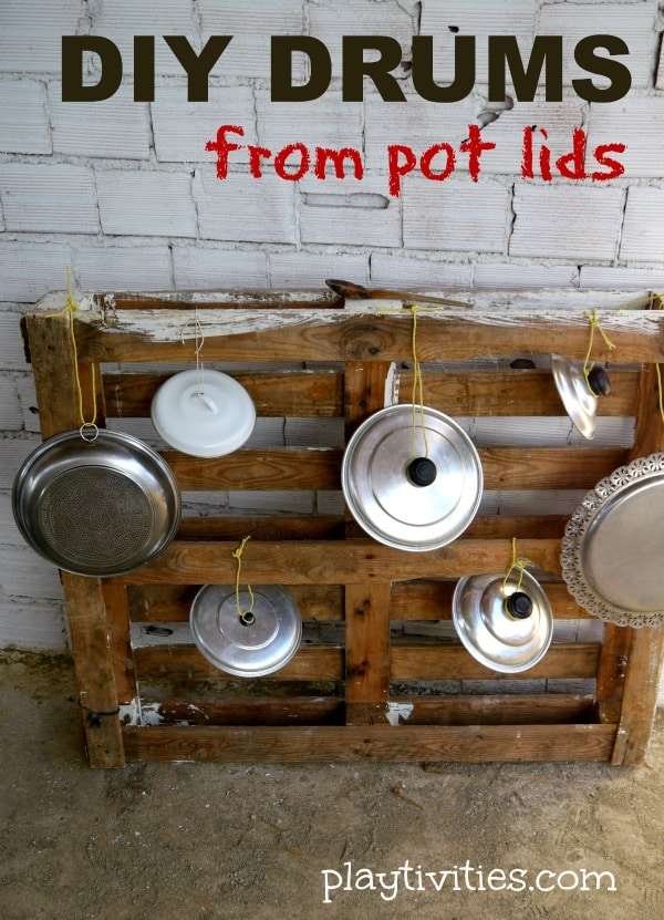 Homemade Drums from Pot Lids
