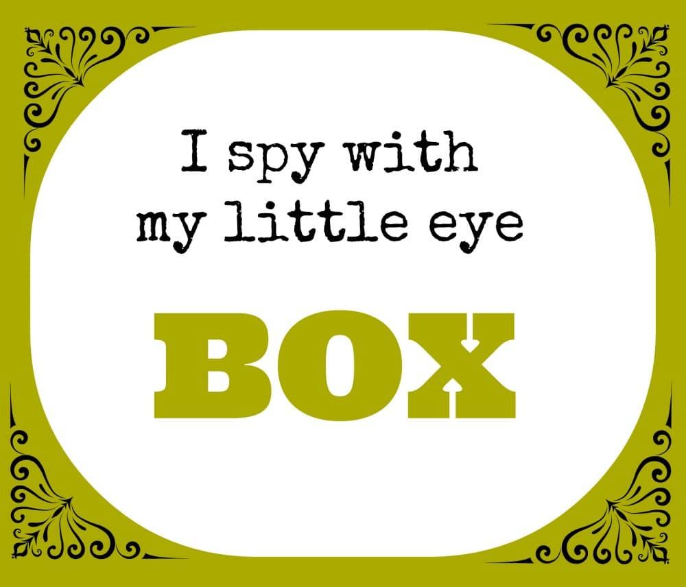 I spy box