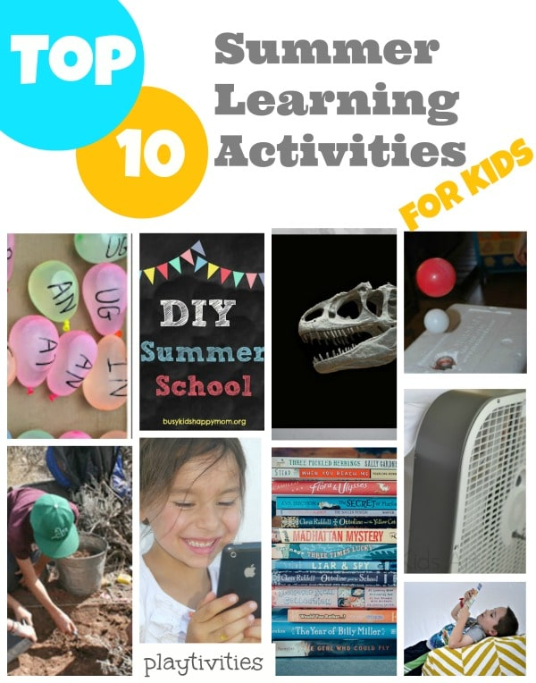 summer learning activities collage