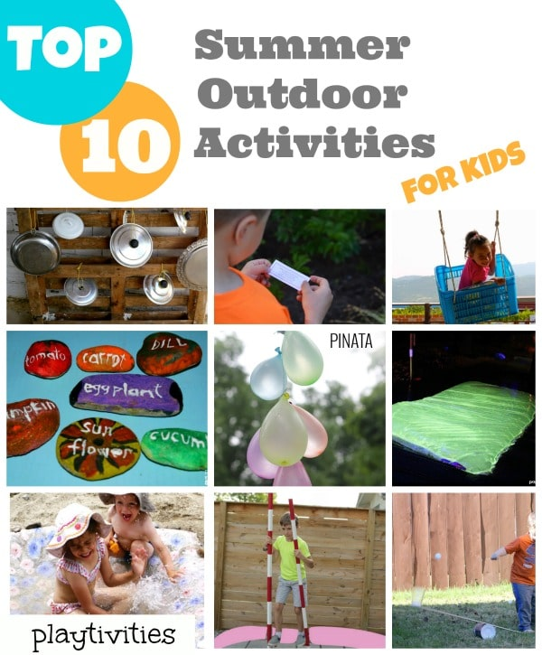 summer outdoor fun activities collage