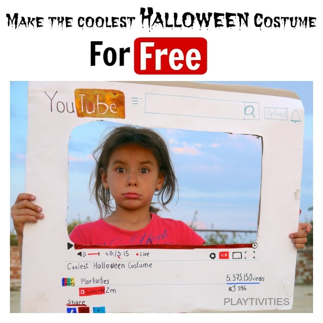 homemade youtube costume