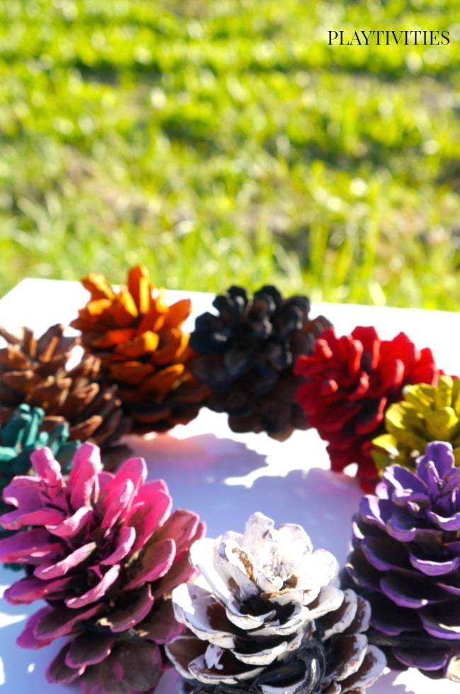pinecone craft crown