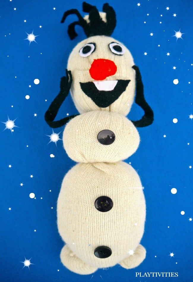 How To Make Olaf From a Sock