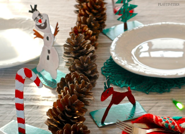 christmas table decoratioins for kids