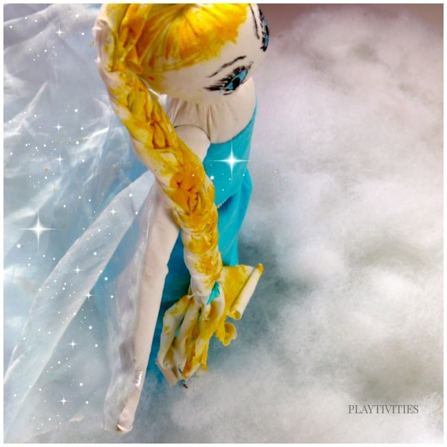 diy elsa doll sock