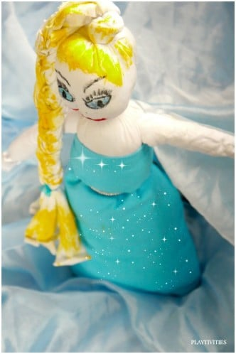 sock doll elsa frozen