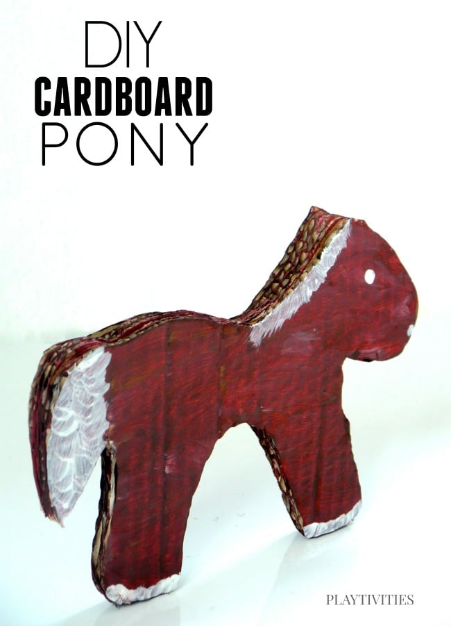 diy carboard pony
