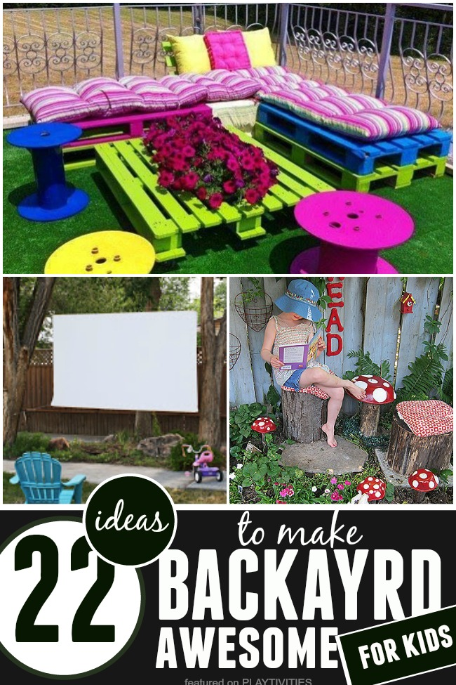 make a cozy seating area outside for kids from pallets for some yummy