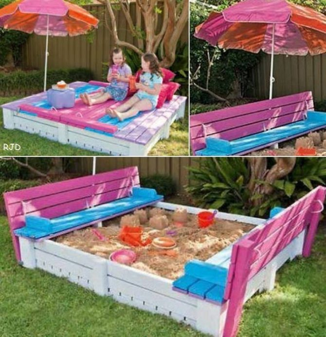 17 Creative DIY Sandbox Ideas PLAYTIVITIES : sand bench thing 670x692 from playtivities.com size 670 x 692 jpeg 123kB