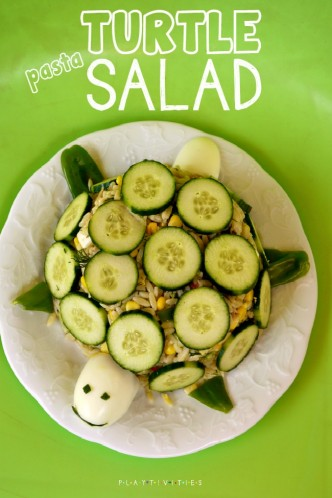 turtle pasta salad for kids