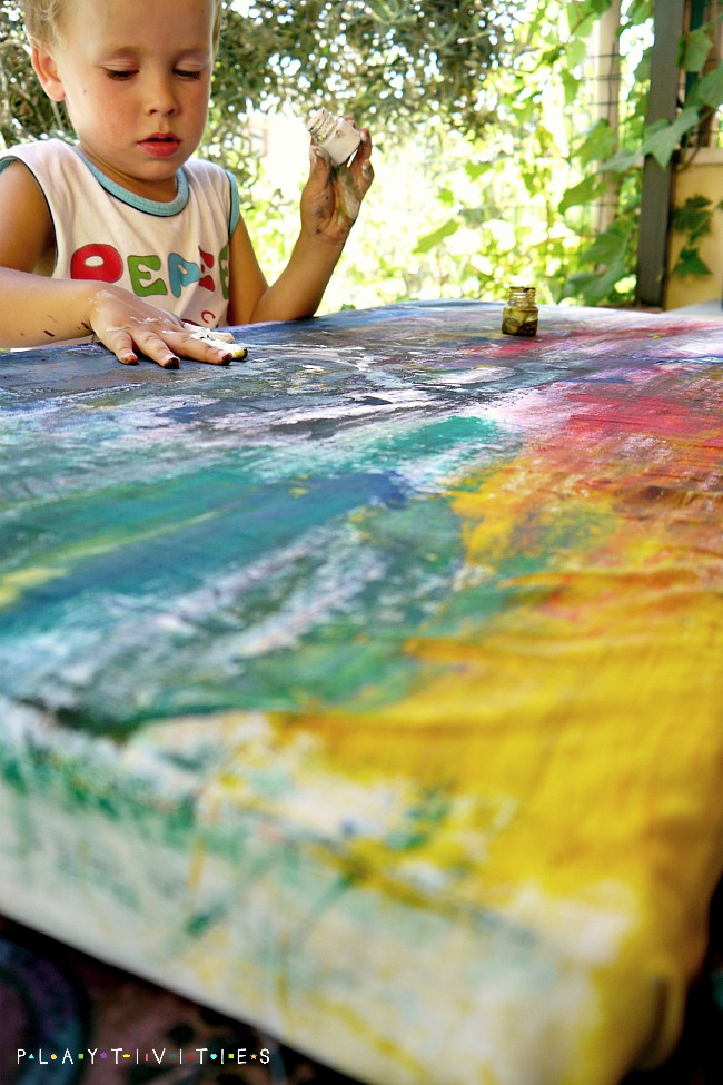 Make Your Own Canvas With Kids