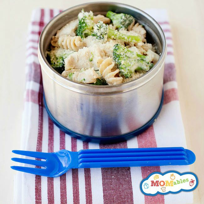 lunchbox leftovers brocoli pasta