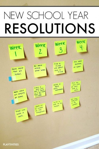 new school year resolutions