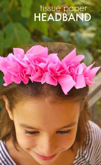 tissue paper headband