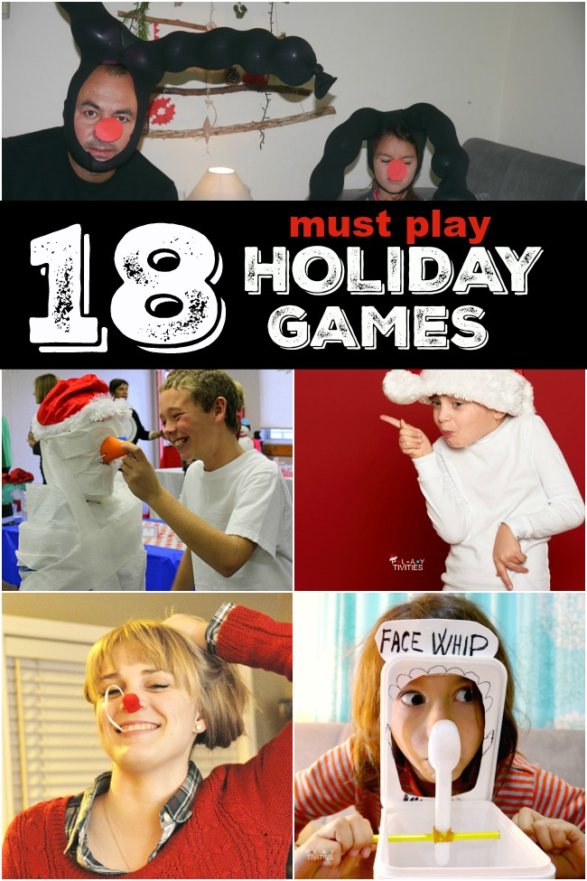 18 Christmas Games For Families - PLAYTIVITIES Funny Games To Play