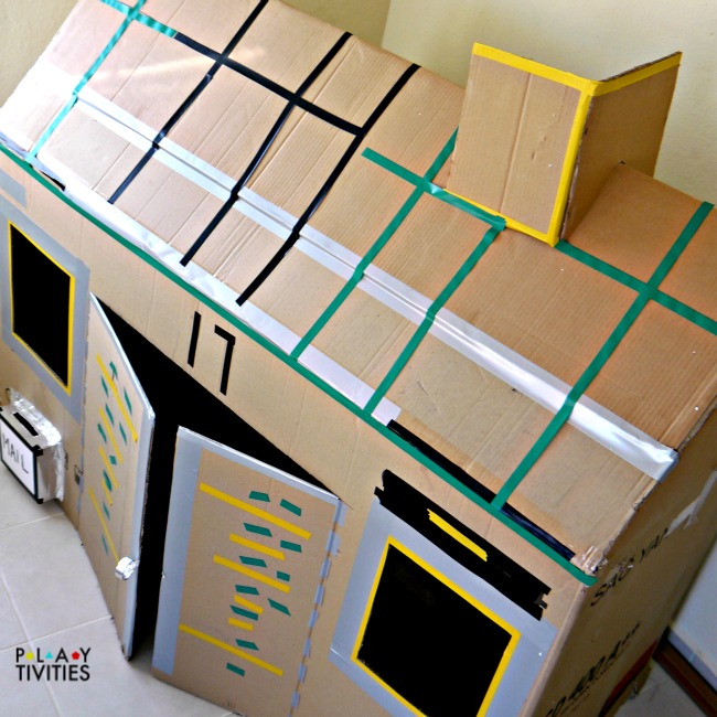 This Cardboard House Castle Is A Fancy Design Addition To The Child