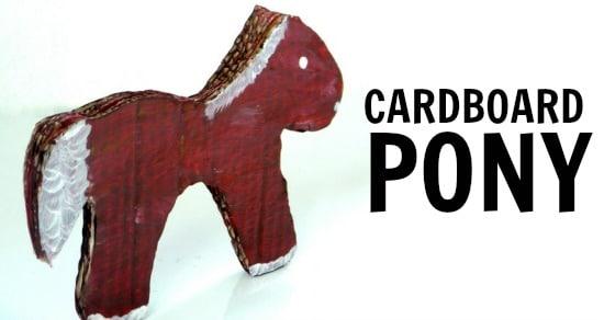 cardboard pony