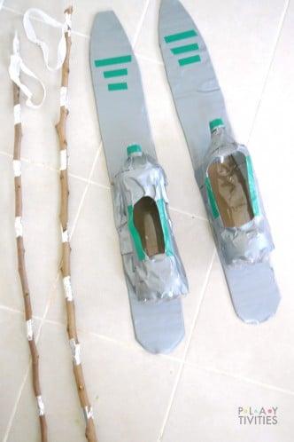 diy cardboard skis 2