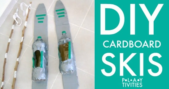 diy cardboard skis FB