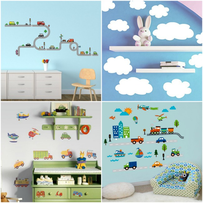 Road wall decals