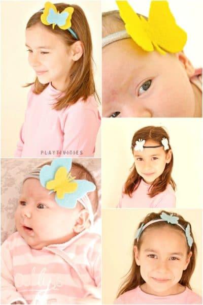 No-sew T shirt Headbands With Butterflies