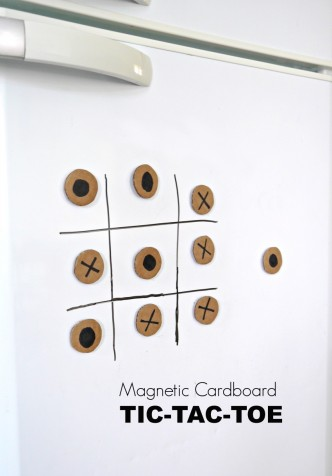 magnetic cardboard tic tac toe