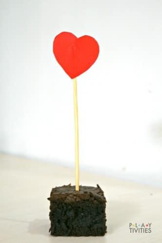 valentines day brownie
