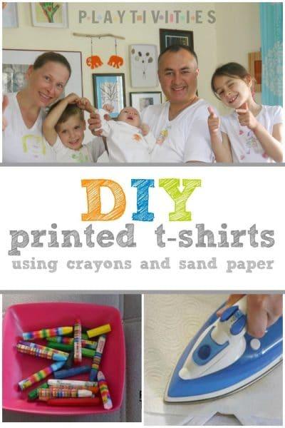 DIY Printed T-Shirts Using Crayons