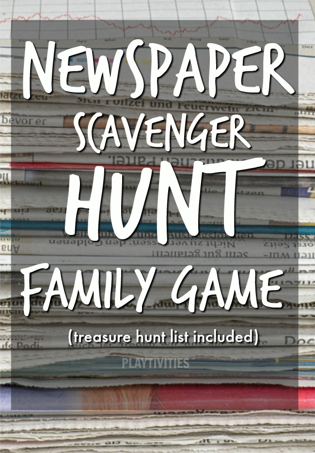 newspaper treasure hunt