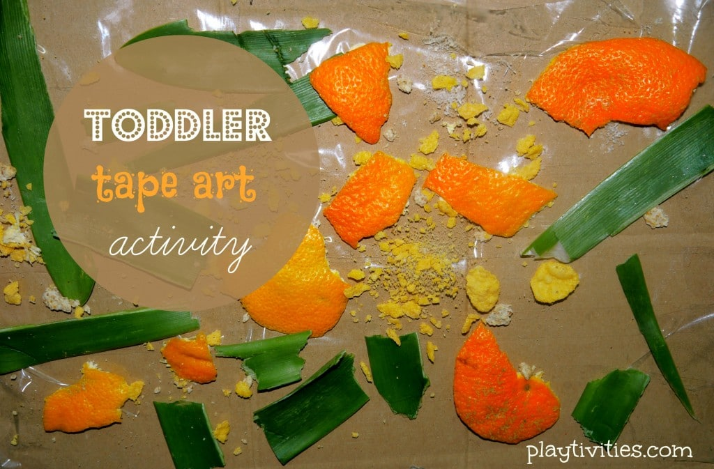Toddler Art Activity with the Tape
