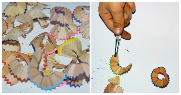 making pencil shaving art