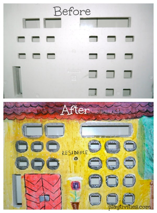 styrofoam upcycling before and after