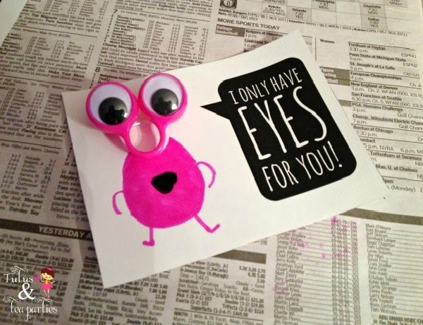 valentine craft google eyes project