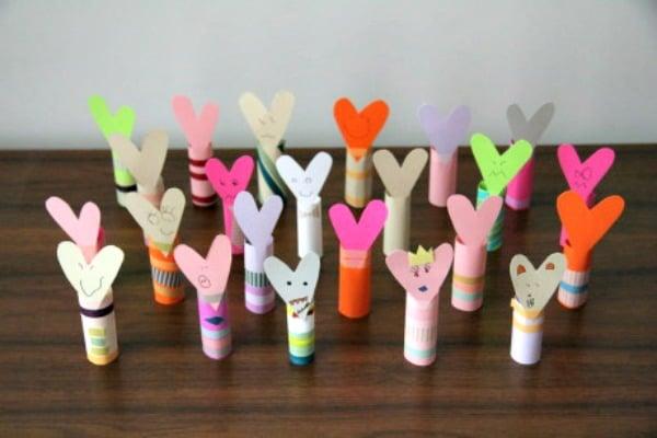 valentine finger puppets