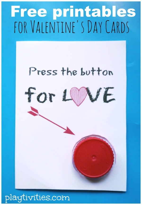 Homemade Valentine Cards for kids to make with free printables