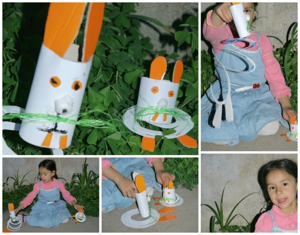 playing with bunny craft