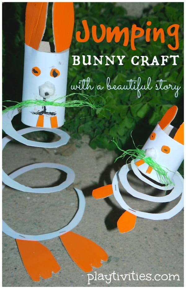 Toilet Paper Bunny that has a spring bottom so it bounces