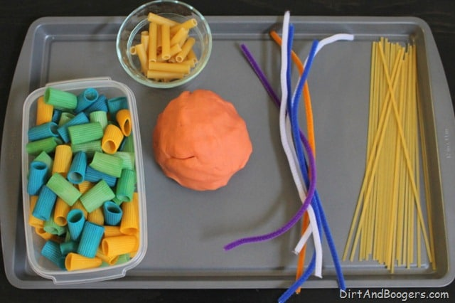 playdough activities setup