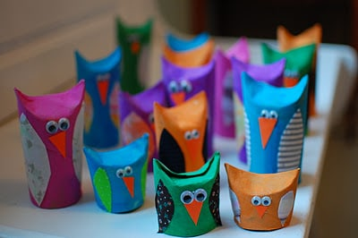 toilet paper roll craft ideas owl