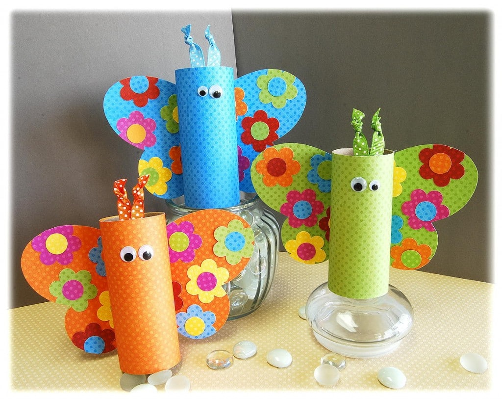 Craft ideas with toilet paper rolls playtivities make colorful and very pretty butterflies using toilet paper rolls and few extra materials toilet paper cfraft ideas butterflies jeuxipadfo Choice Image