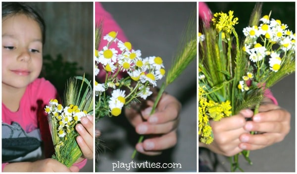 sensory play with flowers 6