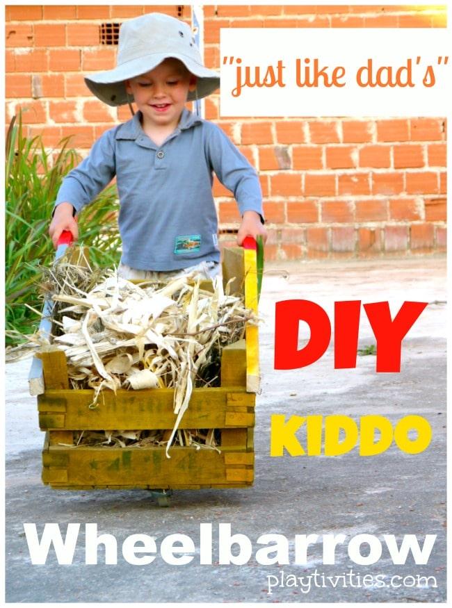 DIY Wheelbarrow for Kiddo